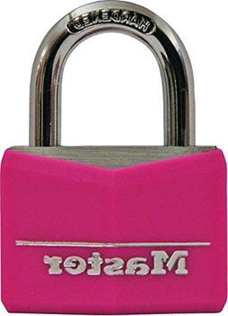 Master Lock Padlock, Covered Aluminum Lock, 1-9/16 in. Wide,