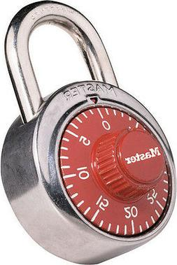 MASTER LOCK 1504D Combination Padlock, Center, 1 Dial, Red