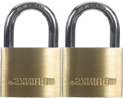 Brinks 161-40202 40mm 1-9/16-Inch Solid Brass Padlock, 2-Pac