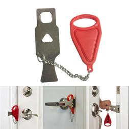 1Pc Portable Door Lock Hardware Safety Security Tool For Hom