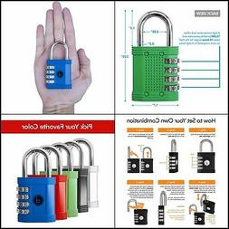 4 Digit Combination Lock for All uses All Weather Metal &Ste