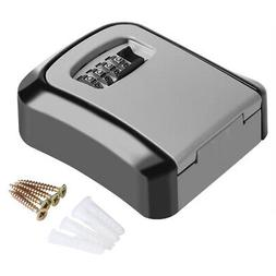 4 Digit Key Safe Security Storage Lock Box Combination Wall