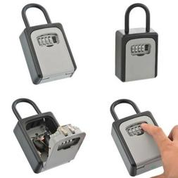 4 Digit Password High Security Wall Mount Key Box Code Secur