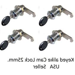 4 Pcs CamLock Cabinet Keyed Cam locks Keyed Alike lock RV Do