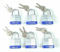 "40 mm Padlock - 6 pc keyed alike - 1-1/2 "" padlocks"
