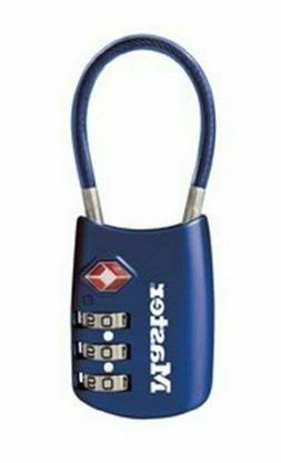 Master Lock 4688D Luggage Cable Lock - Resettable - 3-digit