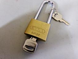 """48JR07, Different-Keyed Padlock, Open Shackle Type, 2-3/4"""" S"""