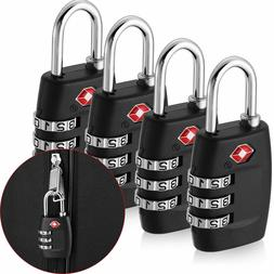 4x TSA Approved Luggage Lock Travel 3 Digit Combination Suit