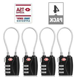 TSA-Approved 3 Digital Combination Luggage Lock With Steel C