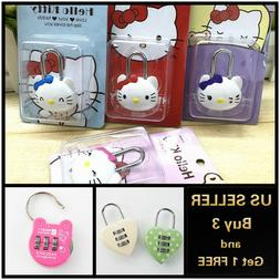 7 Styles of Digit Combination Lock Hello Kitty Luggage Gym S