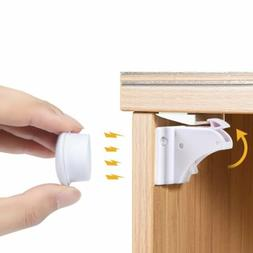 Baby Safety Cupboard Lock Invisible Magnetic Cabinet Locks C