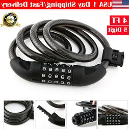 Bike Lock Cable Locks for Bicycle Heavy Duty Combination Cha