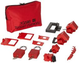 Brady Lockout Sampler Pouch Kit, includes 2 Safety Padlocks