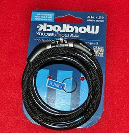 Wordlock CL-441-BK Non-Resettable Combination Cable Lock, Bl