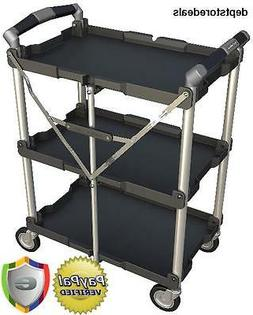 Olympia Tools 85-188 Collapsible SERVICE CART, Folding Wheel