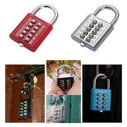 Combination Lock 10 Digit Padlock for School Gym Locker,Lugg