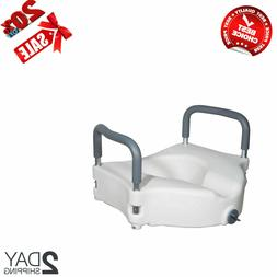 Drive Medical Elevated Raised Toilet Seat with Removable Pad