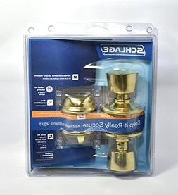 Schlage FB50NVBEL505 Bright Brass Bell Collection Single Cyl