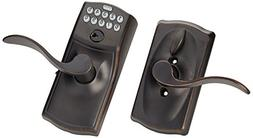 Schlage FE595VCAM716ACC Aged Bronze Accent Entry Lever Keypa