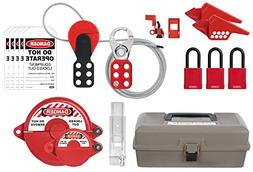 ABUS K930 Safety Lockout Tagout Electrical, Valve Toolbox Ki