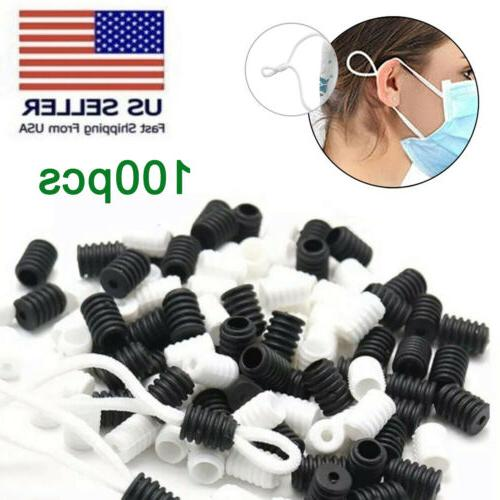 100pcs silicone cord locks toggles for mask