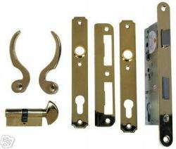 Atrium Door: Lock Replacement Hardware Set - Polished Brass