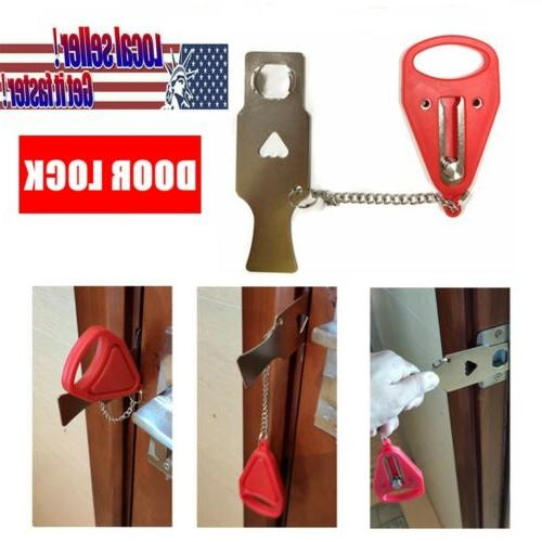 Portable Security Door Lock Hardware Safety Tool for Home Pr