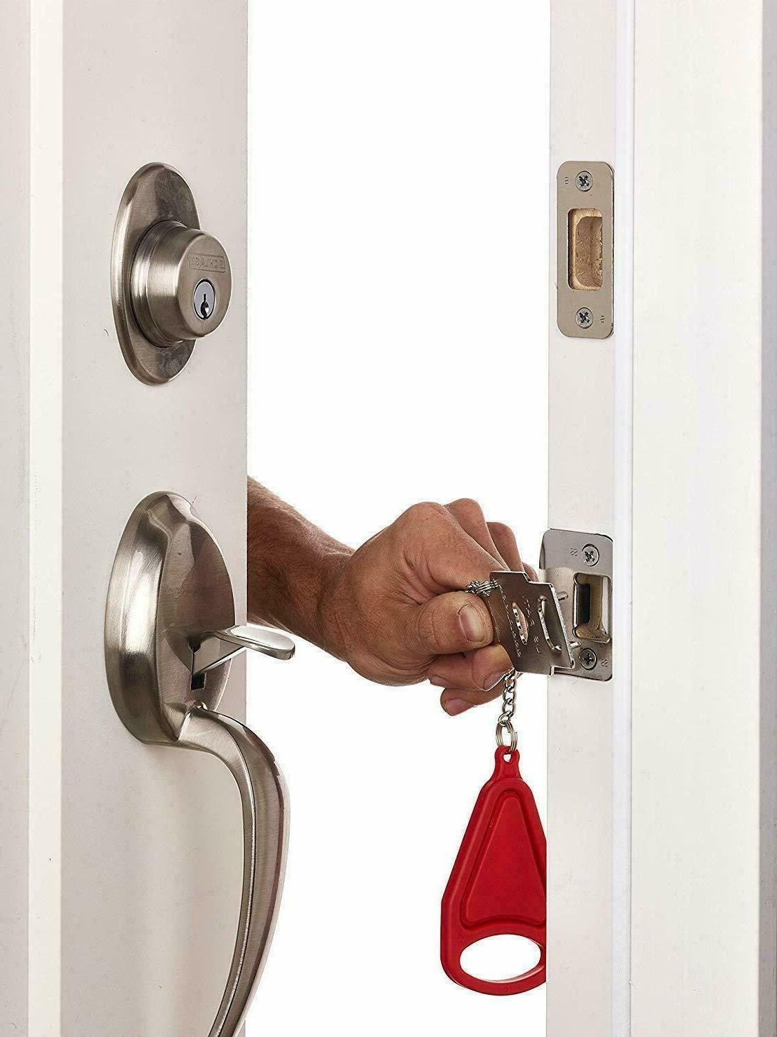 Portable Security Door Lock Hardware Safety Tool Home Privacy Travel Hotel
