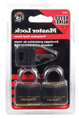 Master Lock 131T Covered Brass Steel Shackle Padlock