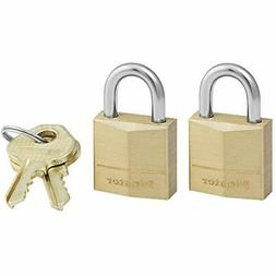 Master Lock Padlock Solid Brass Lock 3/4 In. Wide 120T Pack