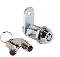 "FJM Security 2400AL-KA Tubular Cam Lock with 1-1/8"" Cylinder"