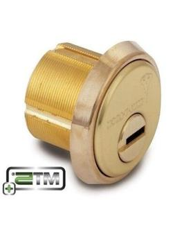 Mul T LOCK  MT5+ Mortise Cylinder- 1-1/8 Inch - Bright Brass