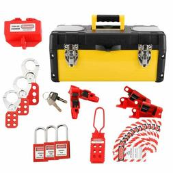 NEW! Lockout Tagout Kit- with Locks, Breaker Lock Outs, Hasp