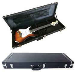 New Protable Electric Guitar Square Hard Case w/ Silver Hard