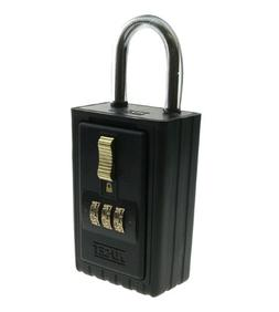 NU-SET 2034S-3 3-Letter Combination Lock Box with Keyed Shac
