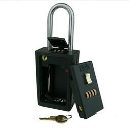 NU-SET 2043-3 4-Letter Combination Lock Box With Combination