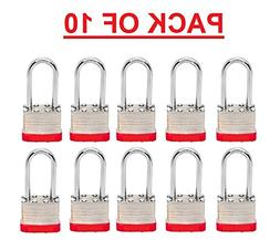 Beisen Hardware  Padlock Box of 10!!! Long Shackle  Laminate