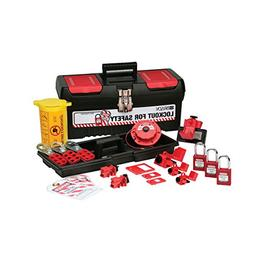 personal electrical lockout toolbox kit, includes 2 safety p