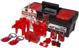 Brady Personal Lockout Tagout Kit for Common Breakers, Valve