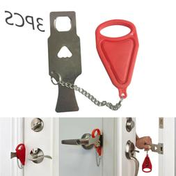 Portable Door Lock Hardware Safety Security Tool For Home /T
