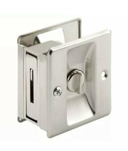 Prime Line N7239 2-3/4 Satin Nickel Pocket Door Privacy Lock
