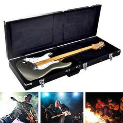 Protable Electric Guitar Square Hard Case w/ Silver Hardware