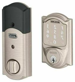 Schlage Sense Smart Deadbolt with Camelot Trim in Satin Nick