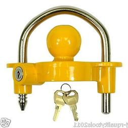 UNIVERSAL TRAILER HITCH BALL COUPLER LOCK OUT TRAILOR TONGUE