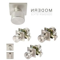 Value Project Pack Modern Flat Door Knob Square Rose Lock Ha