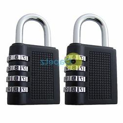 Weatherproof Security Padlock Outdoor Heavy Duty 4-Digit Com
